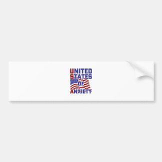 United States of Anxiety Bumper Sticker