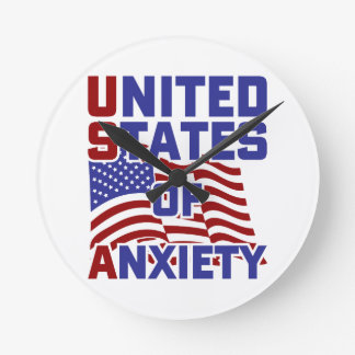 United States of Anxiety Round Clock