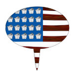 United States of bacon and Cupcakes Cake Topper
