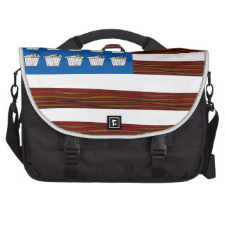 United States of bacon and Cupcakes Laptop Bags