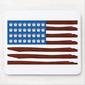 United States of bacon and Cupcakes Mouse Pad