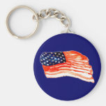 United States of Bacon Basic Round Button Keychain