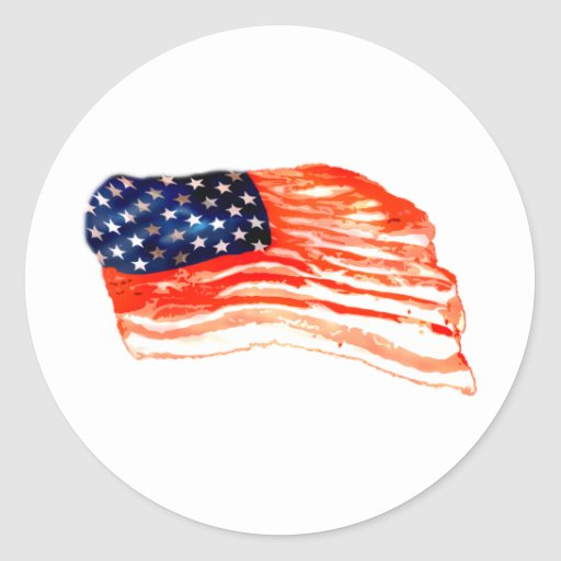 United States of Bacon Classic Round Sticker