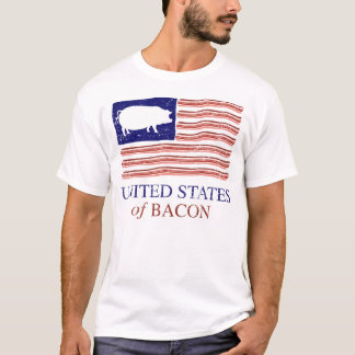 United States of Bacon Distressed T-shirt