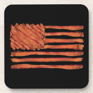 United States of Bacon Flag Drink Coaster