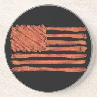 United States of Bacon Flag Drink Coasters