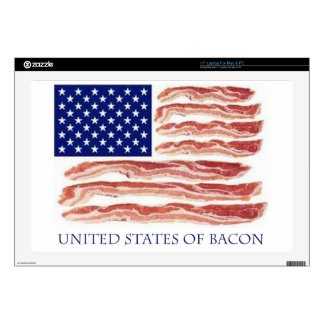 "United States of Bacon 17"" Laptop Decal"