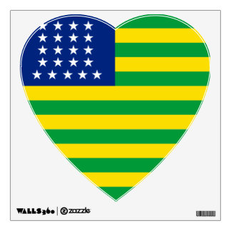 United States of Brazil flag Wall Decal