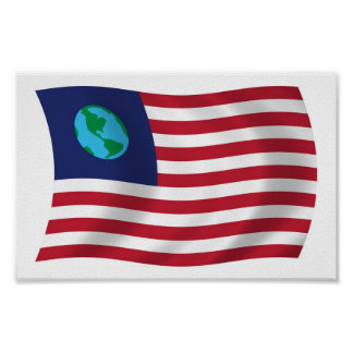 United States of Earth Flag Poster Print