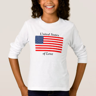 United States of Love - Girl's Long-Sleeve Shirt