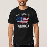 United States of 'Merica Distressed print on dark Tee Shirt