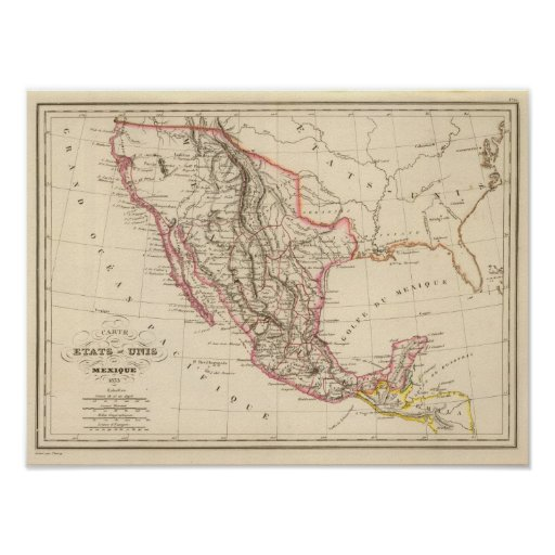 United States of Mexico, 1835 Posters