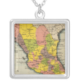 United States of Mexico 2 Square Pendant Necklace