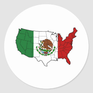 United States of Mexico Classic Round Sticker