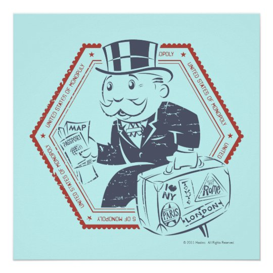 United States of Monopoly Poster