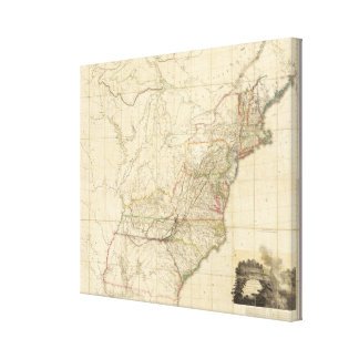 United States Of North America 2 Gallery Wrap Canvas