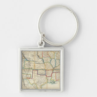United States Of North America 2 Silver-Colored Square Keychain