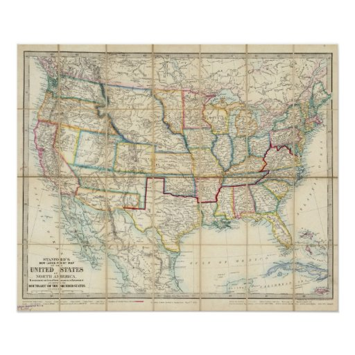 United States Of North America Poster