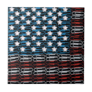 United States of Paperclips Ceramic Tile