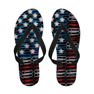 United States of Paperclips Flip Flops