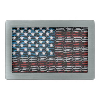 United States of Paperclips USA Rectangular Belt Buckles