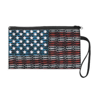 United States of Paperclips USA Wristlet Purse