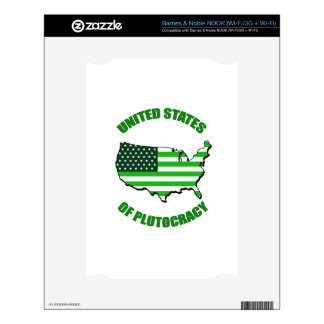 United States of Plutocracy NOOK Decal
