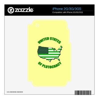 United States of Plutocracy Decal For The iPhone 2G
