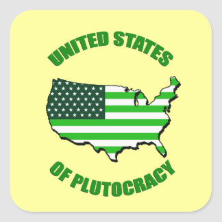 United States of Plutocracy Square Sticker