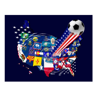 United States of Soccer Supporters Stars gifts Postcard