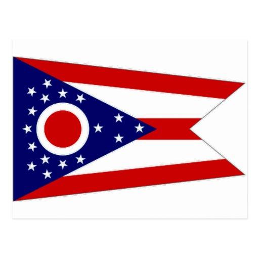 United States Ohio Flag Post Card