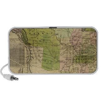 United States Olney Map iPod Speaker