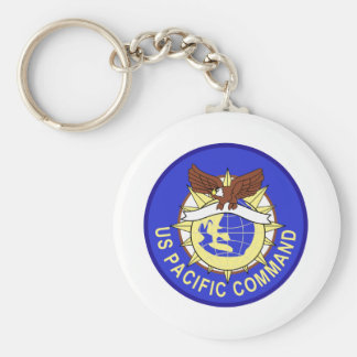 UNITED STATES PACITIC COMMAND Military Patch Basic Round Button Keychain