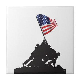 United States, Patriot, Flag and Military Ceramic Tile