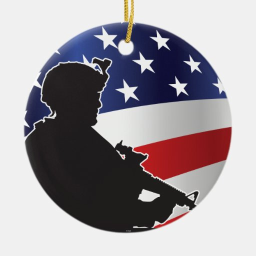 United States, Patriot, Flag and Military Christmas Ornaments