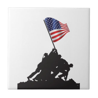 United States Patriot Flag and Military Tile