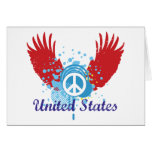 United States Peace Sign Greeting Card