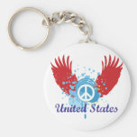 United States Peace Sign Keychains