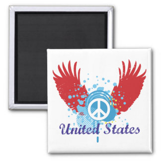 United States Peace Sign Magnets