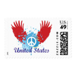 United States Peace Sign Postage Stamps