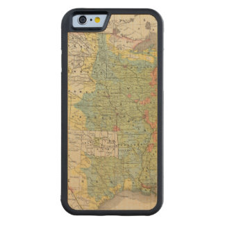 United States Population Density, 1890 Carved Maple iPhone 6 Bumper Case