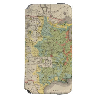 United States Population Density, 1890 iPhone 6/6s Wallet Case