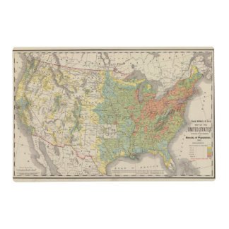United States Population Density, 1890 Placemat