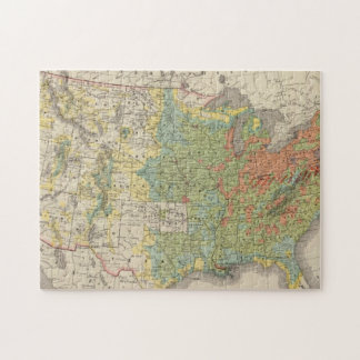 United States Population Density, 1890 Puzzle