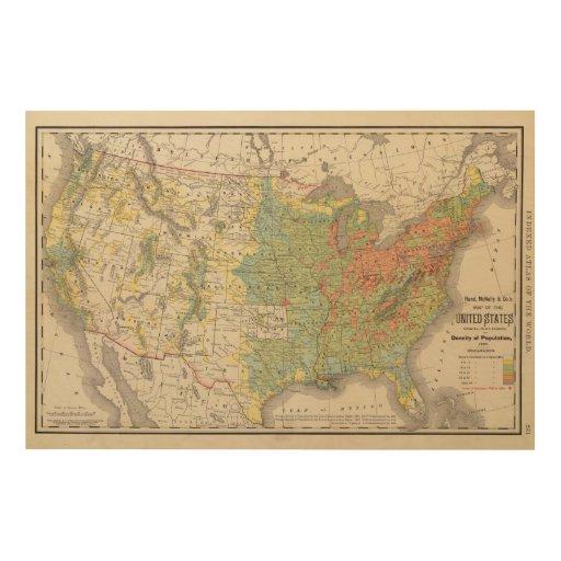 Elevation Wood Density : United states population density wood canvases zazzle