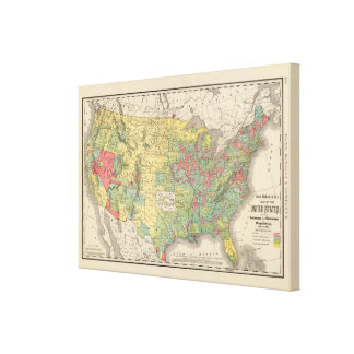 United States Population Increase, 1880-1890 Canvas Print