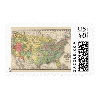 United States Population Increase, 1880-1890 Postage