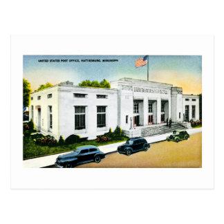 United States Post Office, Hattiesburg, Miss. Postcard