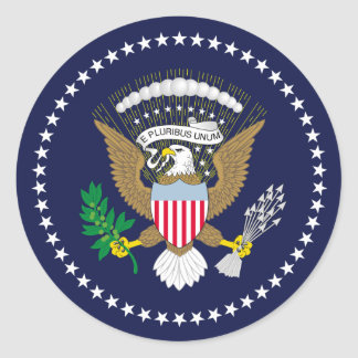 United States Presidential Classic Round Sticker