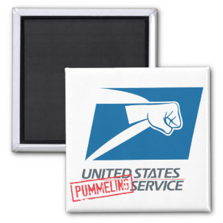United States Pummeling Service 2 Inch Square Magnet
